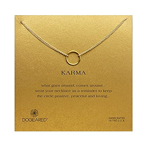 Dogeared - Collier Karma en vermeil - Plaqué or -