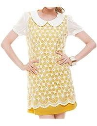 JNTworld Sexy Damen Mode Minikleid Kurzarm Spitze schlank Party Kleid Dress