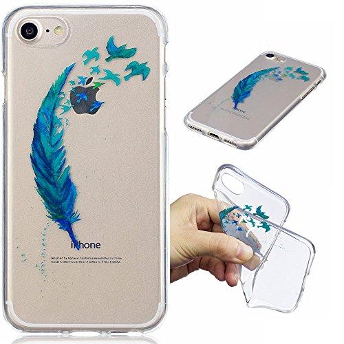 Ooboom® iPhone 6S/6 Coque Transparent TPU Silicone Gel Housse Étui Protecteur Cover Case Souple Ultra Mince pour iPhone 6S/6 - Phoque Plume