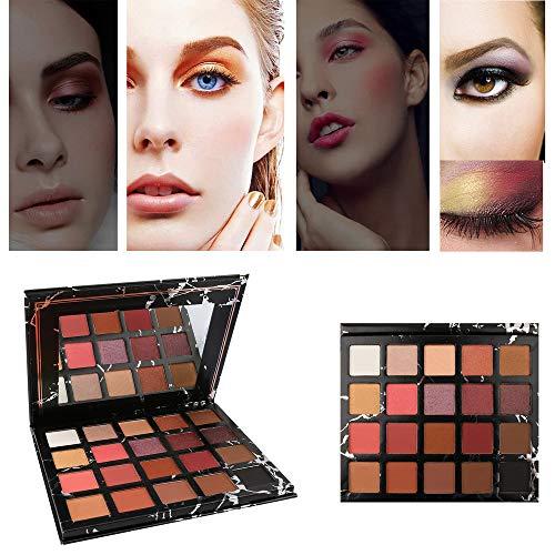 LEXUPE 20 Couleurs Palette de paupières chatoyantes d'ombre à paupières Mat Maquillage cosmétique beauté(Noir,34)