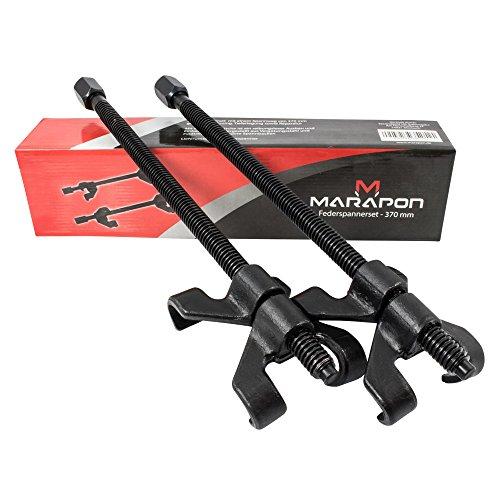 MARAPON Federspanner für KFZ [2 TLG. Set mit 370 mm Spannweg] Einfacher Stoßdämpferwechsel | Extra geschmiedete & stabile Greifer für PKW & Motorrad