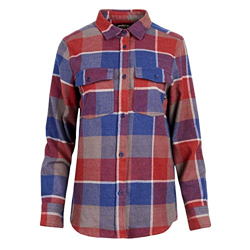United by Blue Damen Fremont Flannel Button Down Hemd Funktionshmed Outdoorhemd