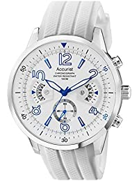 Accurist Mens Acctiv Sports Chronograph White Silicone Strap Watch (MS920WW)