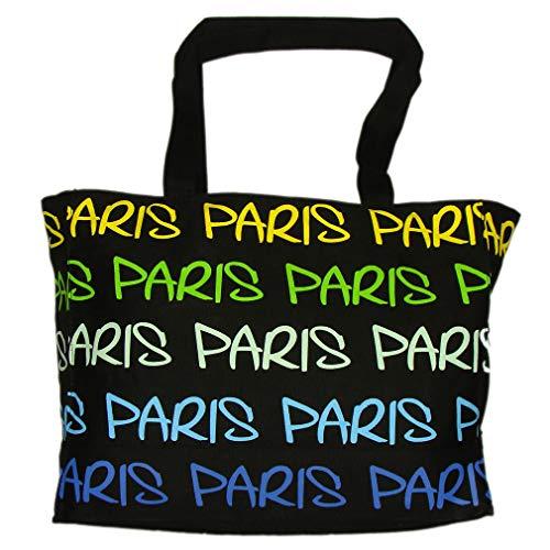 Sac Shopping Paris Robin Ruth 'Arc-en-Ciel' - Noir