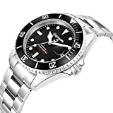 "Gigandet Herren Automatik-Armbanduhr ""Sea Ground"" Analog Edelstahlarmband Schwarz Silber G2-002 - 5"