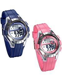 ab2332e92397 JewelryWe 2pcs Relojes para Niños Niñas Digital Reloj Deportivo para Aire  Libre