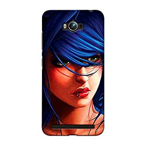 CrazyInk Premium 3D Back Cover for Asus Zenfone Max - Lady face