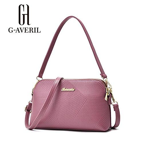 (G-AVERIL) Singolo sacchetto di spalla per le donne Crossbody Borsetta PU Impermeabile tracolla lunga / Body Bag Croce Moda con la Catena per Partito / Shopping / rosa