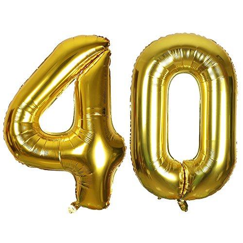 SMARCY Globos Número (40 Dorado)