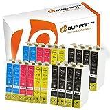 Bubprint 20 Druckerpatronen kompatibel für Epson T0711 T0712 T0713 T0714 für Stylus SX105 SX210 SX218 SX400 DX4000 DX4400 DX6000 DX6050 DX8450 BX300F