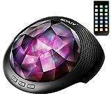 [neue Version] SOAIY Bluetooth LED Farbwechsel Nachtlicht Projektor Lampe Polarlicht Projektion Einschlaflicht mit Fernb