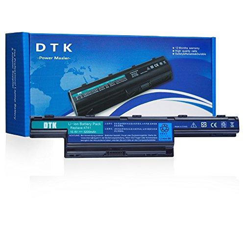 DTK® Ultra Hochleistung Notebook Laptop Batterie Li-ion Akku für Acer Aspire 4250, 4253, 4551, 4552, 4738, 4741, 4750, 4752,4771, 5251, 5253,5336, 5551, 5560, 5733, 5741, Travelmate 4740,4750,AS10D,AS10D31 [10.8V 4400mAh Li-ion]