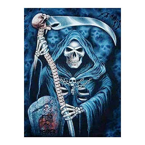 Esqueleto muerte Diamante Pintura Ronda completa Retrato