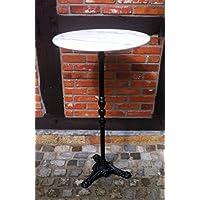 Bistro tavolo TAVOLINO Bar in marmo bianco con base in