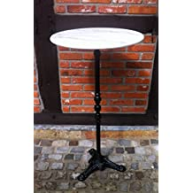Table bistrot marbre - Table bistrot marbre ronde pied fonte ...