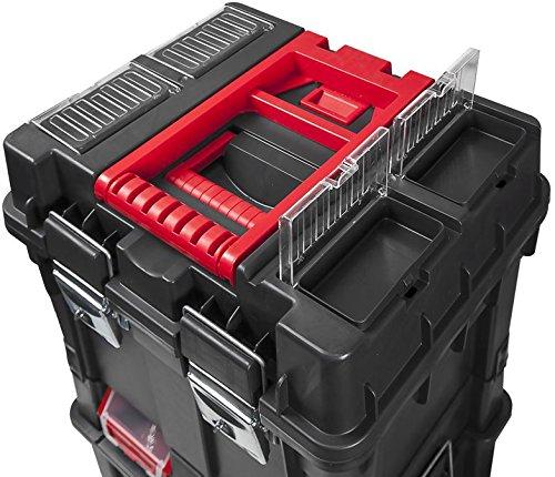 Werkzeugkoffer Werkzeugwagen Rollwagen Wheelbox HD Compact schwarz / rot Trolley Rollen - 2