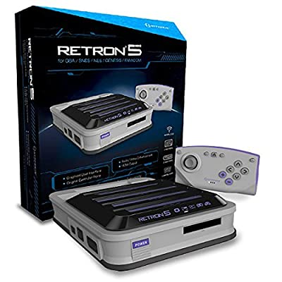 Hyperkin RetroN 5 Retro Video Gaming System (5 in 1) - Grey (Electronic Games) from pqube