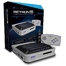 Console Retron 5 GBA + SNES + NES + Genesis + Famicom grise