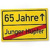 DankeDir! 65 Jahre (Junger Hüpfer), Kunststoff Schild - Geschenk 65. Geburtstag, Geschenkidee Geburtstagsgeschenk Fünfundsechzigsten, Geburtstagsdeko/Partydeko / Party Zubehör/Geburtstagskarte
