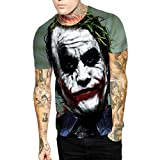 Dream Garden 3D Print Pattern Men Fashion Short Sleeve O-Neck Top Tee Shirt (UK XL, R)