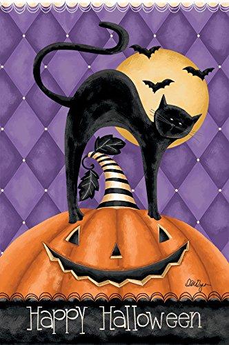 flagge - Happy Halloween, Exklusives Kunstwerk von Lori Lynn Simms - wetterfestes, lichtbeständiges Polyester - 71 x 102 cm ()