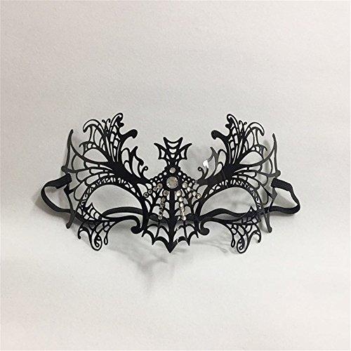 (Venetian Diamond Ball Halbe Gesichtsmaske Make-up Requisiten Metall Eisen Prinzessin Party Maske)