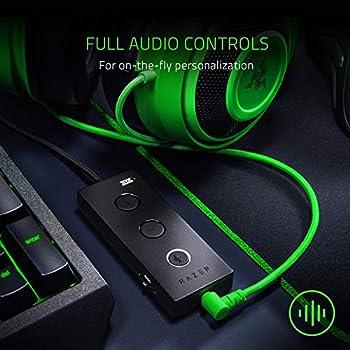 Razer Kraken Tournament Edition - Esports Gaming Headset, Cuffie Cablate con Controller Audio USB, Controlli Audio Completi, THX Spatial Audio, Driver da 50 mm, Compatibilità Multipiattaforma, Verde