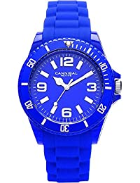 Cannibal Unisex Quartz Watch with Blue Dial Analogue Display and Blue Silicone Strap CJ209-05