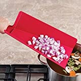 Joseph Joseph - Tabla de Cortar Chop2Pot Plus Grande, Color Rojo