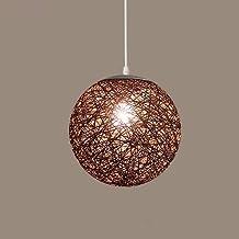 GQLB Die Kommission Kugel Kronleuchter Lampe Und Leuchte Kunst Wohnzimmer Rattan 300 Mm Sisalgarn