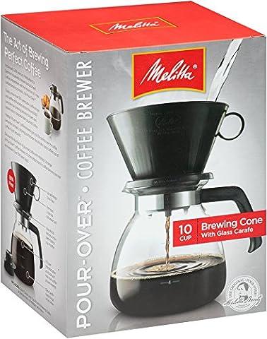 Melitta Gourmet 10 Cup Manual Coffeemaker-DRIP CONE COFFEE MAKER