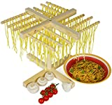 Andrew James Pasta Drying Rack In Wood, Authentic Italian Style