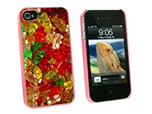 Graphics and More Gummy Gummi Bears - Snap On Hard Protective Case for Apple iPhone 4 4S - Pink - Carrying Case - Non-Retail Packaging - Pink by Graphics and More