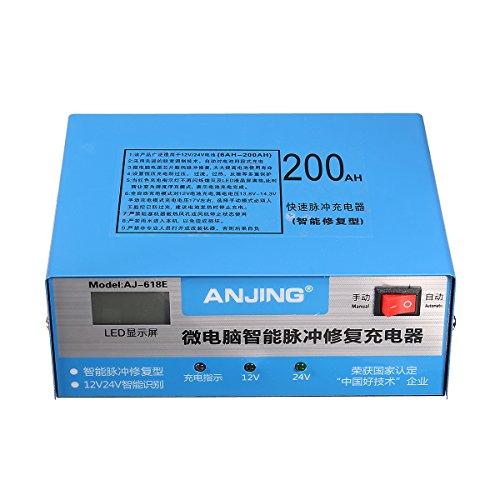 Tutoy Anjing Aj-618E 130V-250V 200Ah Automatisches Batterieladegerät Intelligentes Puls Reparatur Batterieladegerät - Eu-Stecker