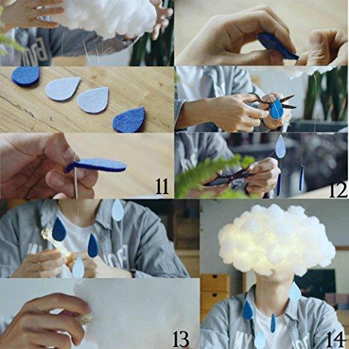 Lámpara hecho a mano forma de nube