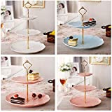 2018new Gold Crown 3 / 2 Tier Cake Fruit Plate Stand Handle Fitting Hardware Rod Plate Stand cake decorating tools
