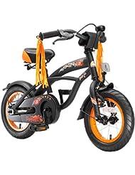 BIKESTAR® Premium Vélo pour enfants à partir d'env. 3 ★ Edition Deluxe Cruiser 12 ★ Couleur Noir