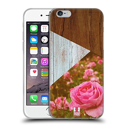 Head Case Designs Sea Side Nature Wood Prints Étui Coque en Gel molle pour Apple iPhone 5 / 5s / SE Roses