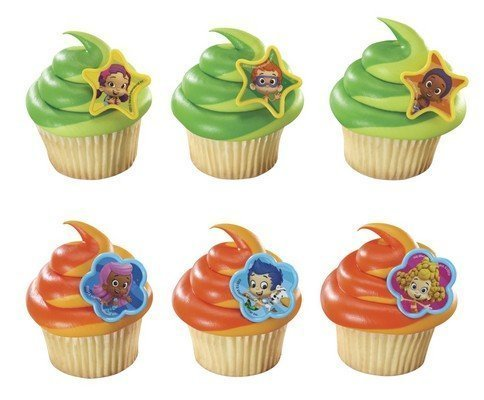 Bubble Guppies Cupcake Topper Rings - Set of 12 by Sweetn Treats