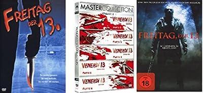 Freitag der 13te Remake + Teil 1-6 DVD Set Friday the 13th, Box + Deutsch & ungeschnitten