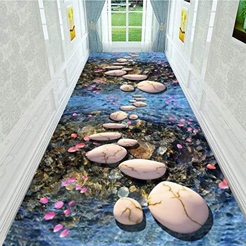 YXNN 3D-Korridor Teppich - Tagungsraum Mall Treppen Gang Rutschfeste Bodenmatte Moderne Wohnzimmer Wohnkultur Hochzeit Teppich Läufer Anpassbar (Farbe : A, größe : 1mx7m) - Rot Läufer Hochzeit Gang