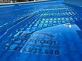 Thermische Abdeckungen für Schwimmbad 6x3 Meter Unbewehrtem Geo Bublle Dicke 400 Mikron