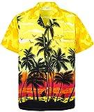 Funky Hawaiihemd, Beach, gelb, 6XL