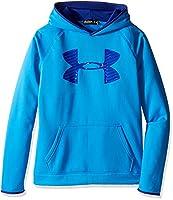 Under Armour Boys Armour Fleece Storm Highlight Warm-Up Top - Brilliant Blue, YXL