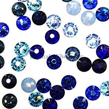 Swarovski 2058 SS20 (4.7mm) crystal flatbacks No-Hotfix rhinestones BLUE Colors Mix by Crystal-Wholesale (Crystal Mix Light)