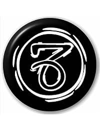 Lapel Pin Button Badge: Capricorn Round Symbol - Star Sign