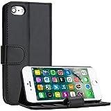 iPhone 7 Hülle, EnGive Ledertasche Schutzhülle Case Tasche mit Standfunktion und Karte Halter Für iPhone 7 (schwarz)