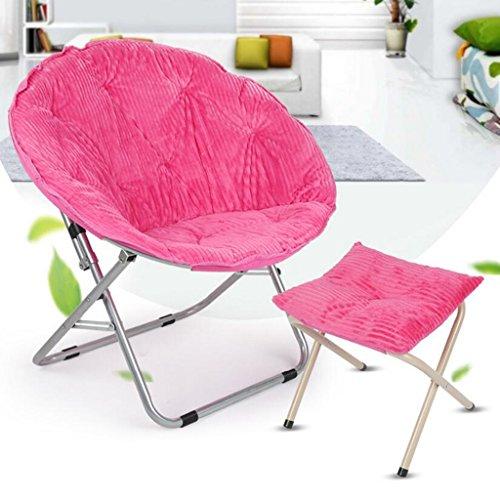 Leichte Lounge Chairs Für Kinder Mit Fußstütze Outdoor Camping Patio Portable Klapp Rasen Hocker Sitz, Metall, 80kg (Farbe : Pink)