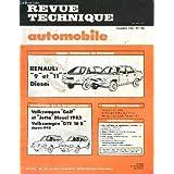REVUE TECHNIQUE AUTOMOBILE / DECEMBRE 1983 - N°439 / RENAULT 9 ET 11 DIESEL / WOLKSWAGEN GOLF ET JETTA DIESEL 1983 - VILKSWAGEN GTI 16S DEPUIS 1982 ...
