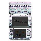 Nintendo New 3DS XL Case Skin Sticker aus Vinyl-Folie Aufkleber Zacken Mädchen Muster